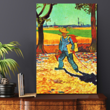 "Painter on his Way to Work by Van Gogh Giclee Canvas Prints Wrapped Gallery Wall Art | Stretched and Framed Ready to Hang - 12"" x 18"""