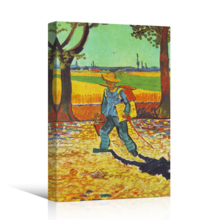 "Painter on his Way to Work by Van Gogh Giclee Canvas Prints Wrapped Gallery Wall Art | Stretched and Framed Ready to Hang - 16"" x 24"""