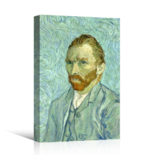 "Self Portrait by Van Gogh Giclee Canvas Prints Wrapped Gallery Wall Art | Stretched and Framed Ready to Hang - 32"" x 48"""