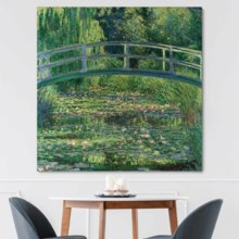 Magnificent Artisanship, it is good, The Water Lily Pond by Claude Monet