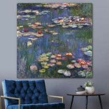 Unbelievable Piece of Art, That's 100% USA Made, Water Lilies by Claude Monet Wall Decor