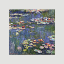 Water Lilies by Claude Monet - Canvas Print