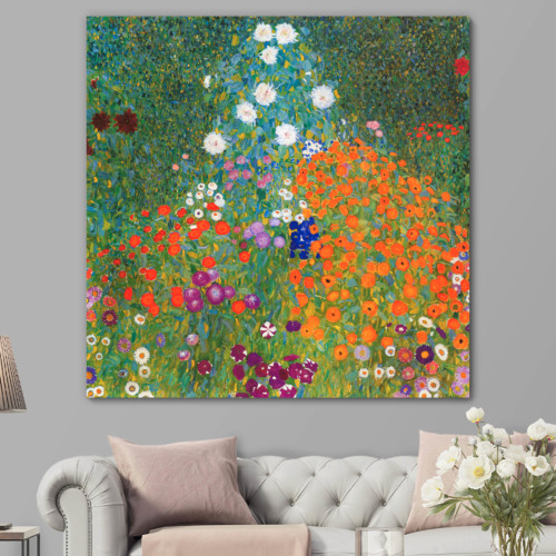 Bauerngarten by Klimt - Canvas Art