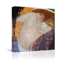 With Expert Quality, Incredible Style, Danae by Gustav Klimt Famous Fine Art Reproduction World Famous Painting Replica on Print Wood Framed