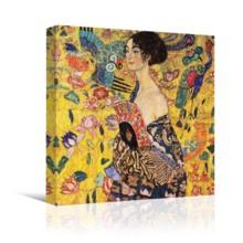 Lady With Fan by Gustav Klimt - Canvas Art