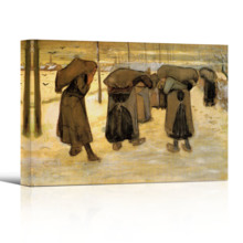 Miners Wives Carrying Sacks of Coal by Vincent Van Gogh Print Famous Painting Reproduction, That You Will Love, Pretty Piece of Art