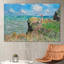 Cliff Walk at Pourville by Claude Monet - Canvas Art