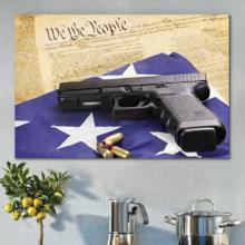 Defending American Values - Canvas Art