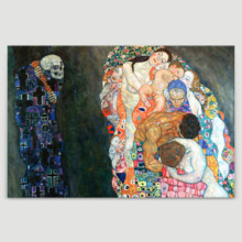 Death And Life by Gustav Klimt - Canvas Art