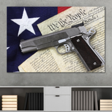 American Values Liberty and Justice- Canvas Art