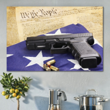Defending American Values - Canvas Art