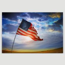 Weathered American Pride - Canvas Art