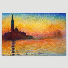 Sunset In Venice (Giorgio Maggiore) by Claude Monet - Canvas Print