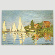 Regattas at Argenteuil by Claude Monet - Canvas Art Print