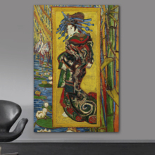 Beautiful Artistry, Classic Artwork, The Courtesan (After Eisen) by Vincent Van Gogh Print