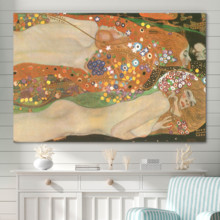 Elegant Technique, With a Professional Touch, Water Serpents Ii Water Snakes by Gustav Klimt Austrian Symbolist Painter Golden Phase