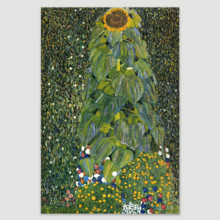 Sunflower by Gustav Klimt Austrian Symbolist Painter, Made With Top Quality, Astonishing Composition