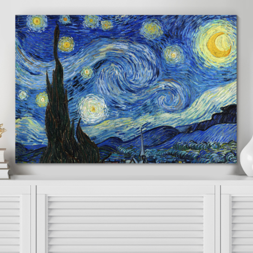 Starry Night by Vincent Van Gogh - Canvas Art Wall Art - 24