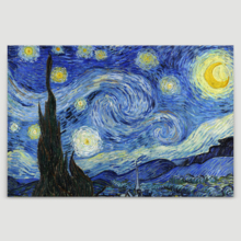 "Starry Night by Vincent Van Gogh - Canvas Art Wall Art - 24"" x 36"""