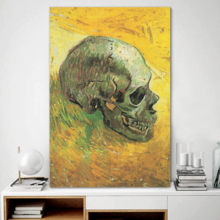 Elegant Craft, Top Quality Design, Skull by Vincent Van Gogh Oil Painting Reproduction
