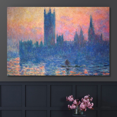 Majestic Craft, Made to Last, The Houses of Parliament Sunset by Claude Monet Impressionist Art