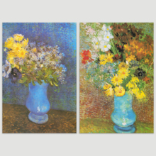 Still Life of Flowers in Vase by Vincent Van Gogh Oil Painting Reproduction in Set of Panels, That's 100% USA Made, Pretty Style