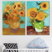 Sunflowers by Vincent Van Gogh Oil Painting Reproduction in Set of Panels