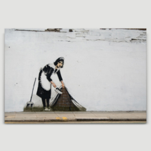 Maid Sweep It Under The Carpet by Banksy