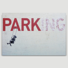 Parking With Girl On A Swing by Banksy