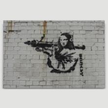 Mona Lisa Bazooka With Rocket Launcher by Banksy