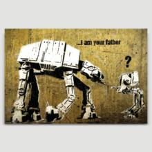 I Am Your Father by Banksy - Canvas Print