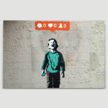 Nobody Likes Me Child Screaming by Banksy