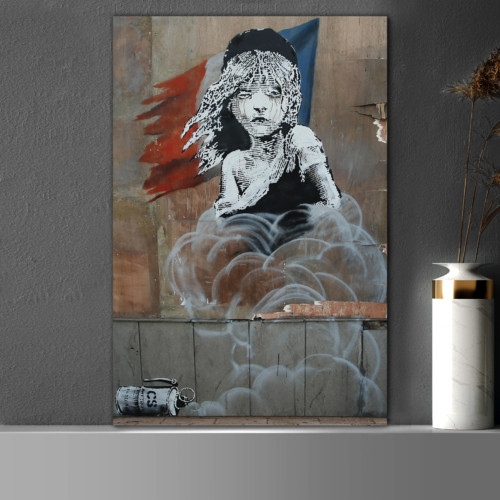 Les Miserables Flag Artwork by Banksy
