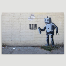 Robot Artwork by Banksy