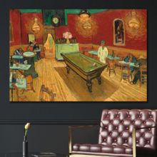 "The Night Cafe by Van Gogh Giclee Canvas Prints Wrapped Gallery Wall Art | Stretched and Framed Ready to Hang - 12"" x 18"""