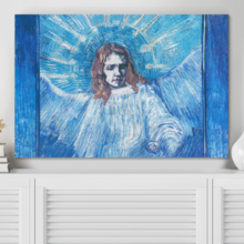 Head of an Angel After Rembrandt by Vincent Van Gogh Print Famous Painting Reproduction, Top Quality Design, Gorgeous Piece
