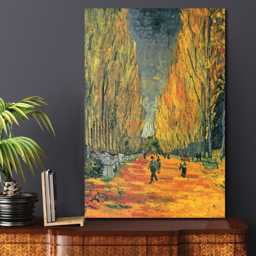 The Allee of Alyscamps (Les Alyscamps 1888) by Vincent Van Gogh Print Famous Painting Reproduction, Professional Creation, Astonishing Piece of Art