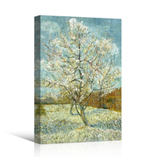 Magnificent Expertise, The Pink Peach Tree by Vincent Van Gogh Print Famous Oil Painting Reproduction, Original Creation
