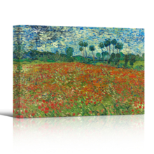 Poppy Field (Field Of Poppies) by Van Gogh - Canvas Print