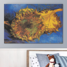 Beautiful Work of Art, Two Cut Sunflowers 1887 by Vincent Van Gogh Print Famous Painting Reproduction, Original Creation