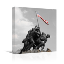 Black and White Photograph with Pop of Color on The American Flag, Made With Top Quality, Fascinating Creative Design