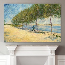 Top Quality Design, Incredible Craft, Along The Seine by Van Gogh