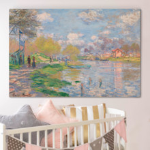 Spring By The Seine by Claude Monet - Canvas Art