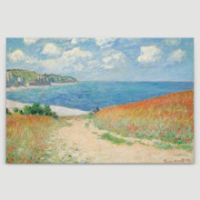 Path in the Wheat at Pourville (Option #2) by Claude Monet - Canvas Art