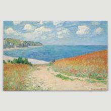 Majestic Expert Craftsmanship, Premium Product, Claude Monet Path Through The Corn at Pourville Impressionist Art