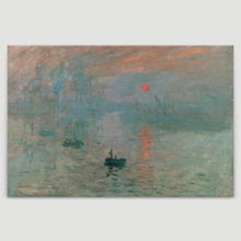 Impression, Sunrise by Claude Monet - Canvas Print