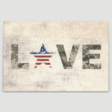 Elegant Visual, That You Will Love, Military Family Love with Camouflage Color