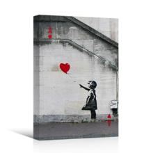 Ace Of Hearts Playing Card Girl With Balloon by Banksy