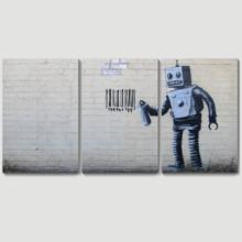 Banksy Robot Artwork - Canvas Wall Art Print