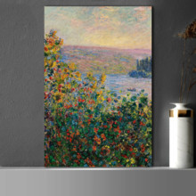 Premium Creation, Pretty Craft, Claude_Monet Flower Beds at Vetheuil Impressionist Art